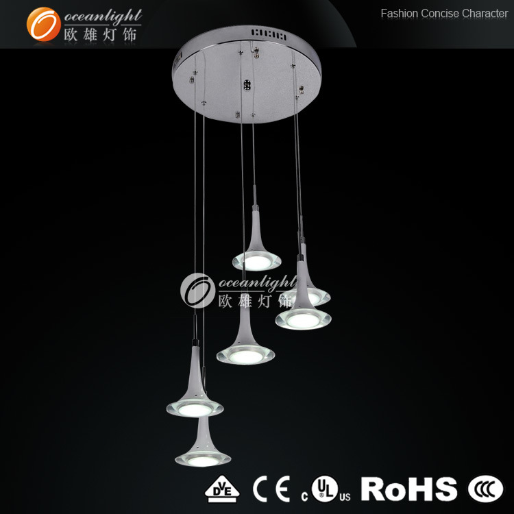 Made in China LED Light, Cheap Acrylic Chandelier Lighting. LED Lamp (OM88184-6B)