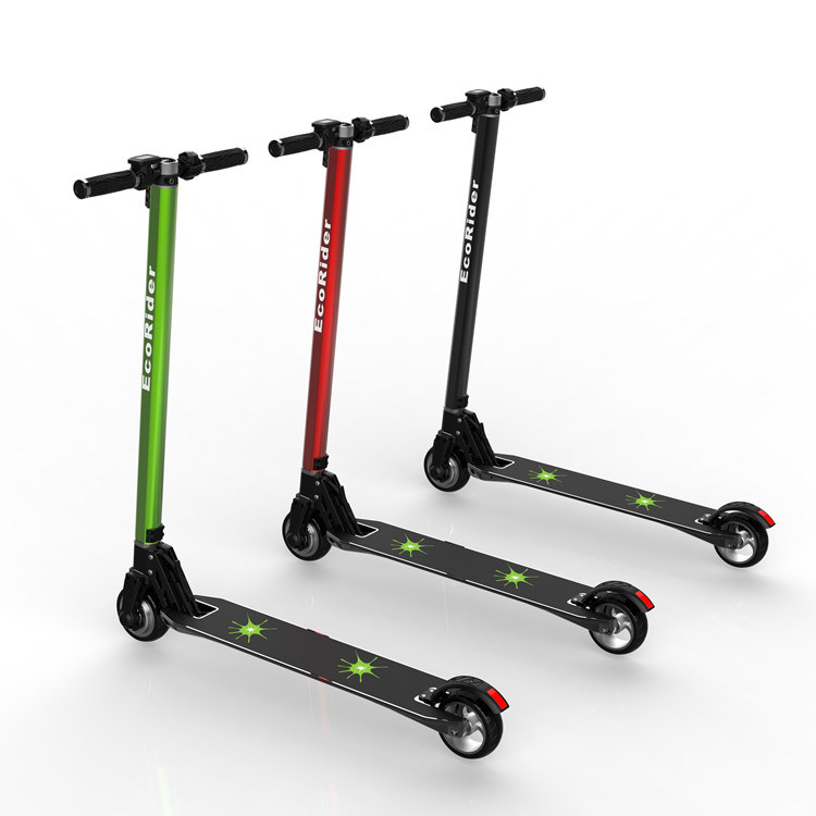 2016 Ecorider Lithium Battery Light Weight Foldable Electric Scooter