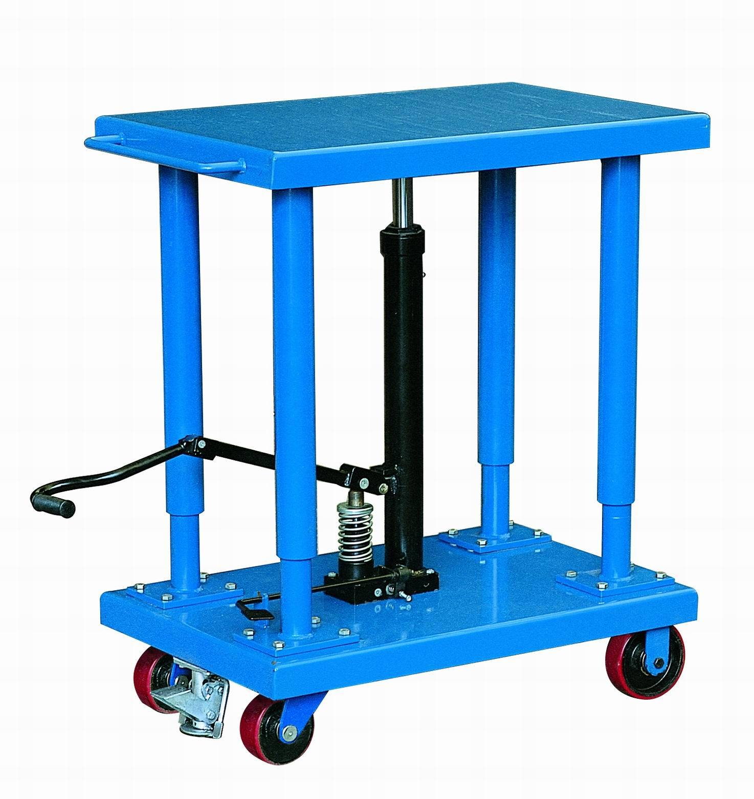 Hydraulic Desk Lift : China mobile hydraulic lifting table trolley