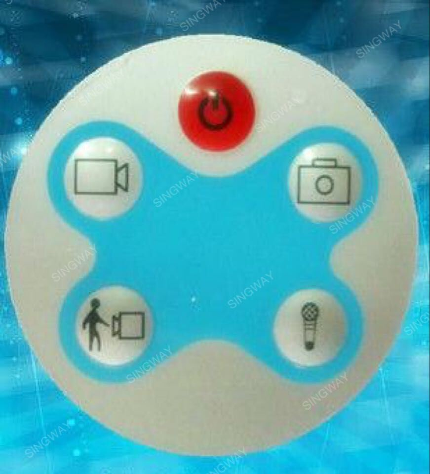 Waterproof Membrane Switch Keyboard with Dome Embossed by Singway
