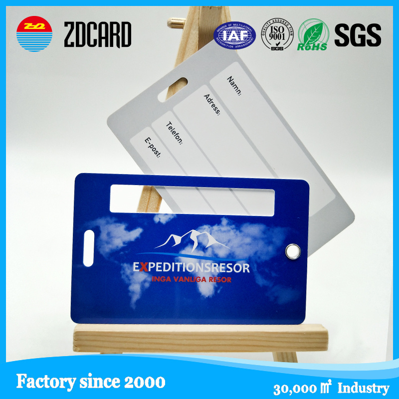Promotional High Quality PVC Luggage Tag
