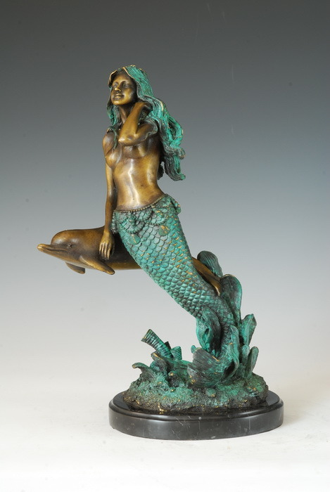 China Bronze Mermaid Sculpture Mythology Statue Tpe 377 Photos Pictures Made In