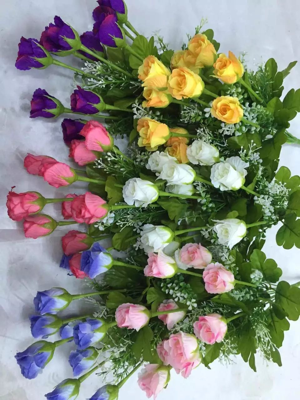 High Quality of Artificial Flowers Rose Bush of Gu-Jy912204343