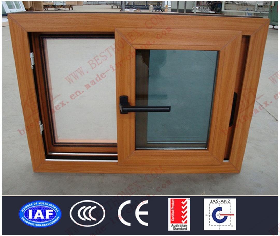 Superior Quality Woodgrain PVC Sliding Window (BHP-SW13)
