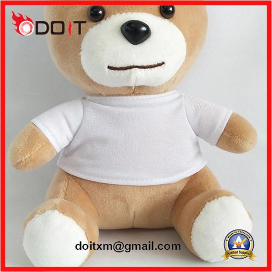 Promotional Gift Custom Logo White T Shirt Teddy Bear