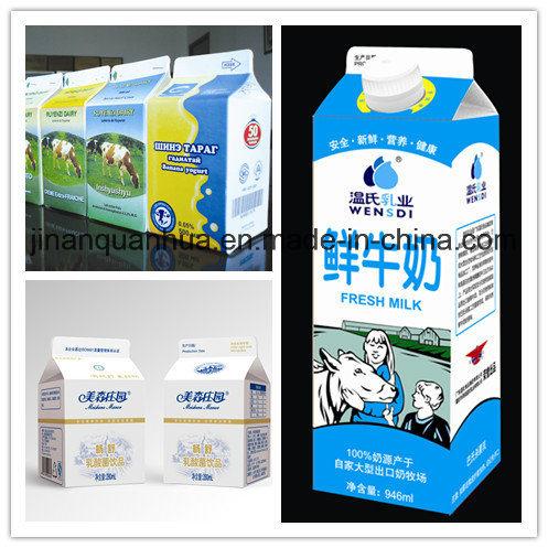 3 Layer 250ml Milk Gable Top Carton