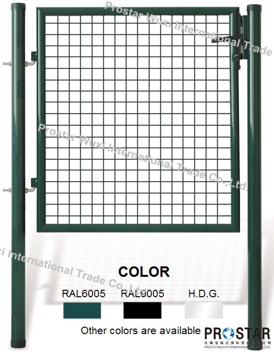 Fence Gate, Iron Gate, Garden Gate, Round Post Gate, Single Wing Gate