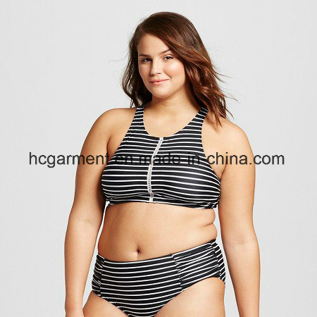 Large Size Swimsuit for Lady, Plus-Size One-Piece Swimming Wear