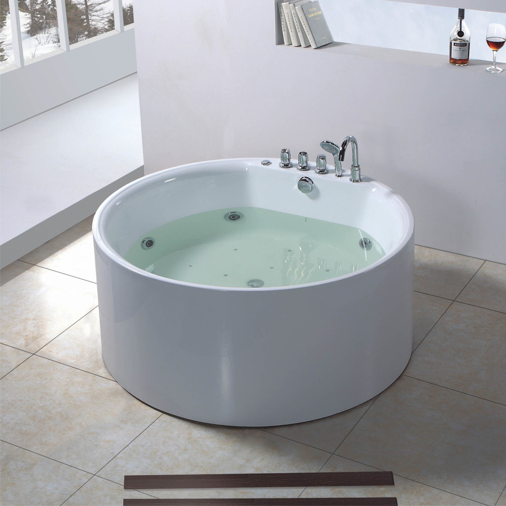 Round shape jacuzzi bathtub bf 6627 photos pictures for Bathtub styles