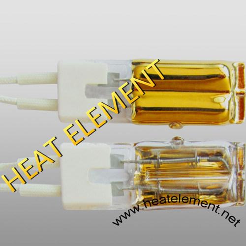 Infrared Quartz Halogen Heating Shorwave Gold Coated Low Glare Lamp