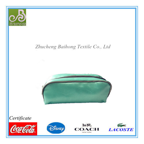 Satin Fabric with Puff PVC Cosmetic Bag/ Pencil Bag