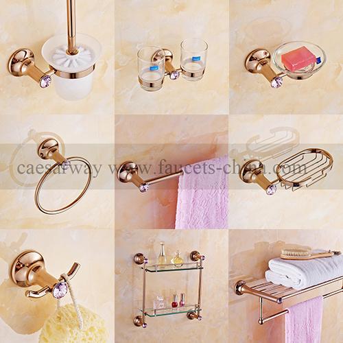 Rose Golden Bathroom Accessories