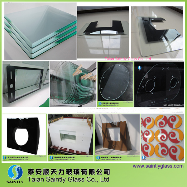 Shandong Manufacturer Best Quality 3mm Low Iron Toughened Glass with Polish Edge