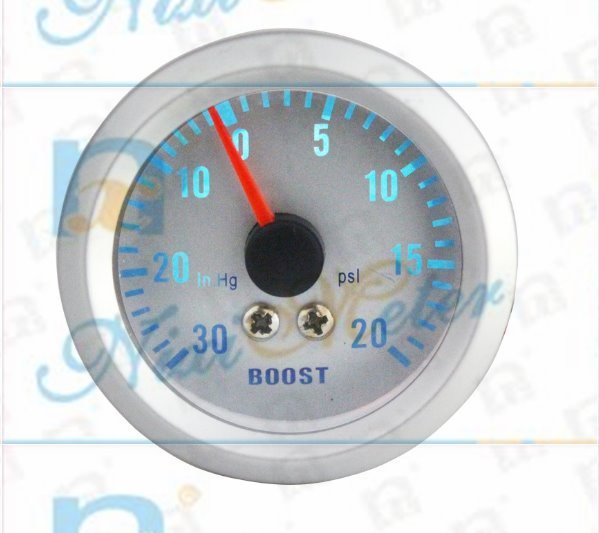 "2"" 52mm 30-20 Boost Gauge with White Dial"