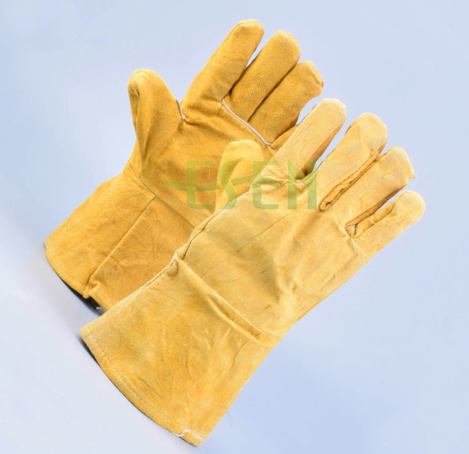 Hot Sell High Quality Cow Split Leather Working Hand Glove/Working Leather Glove