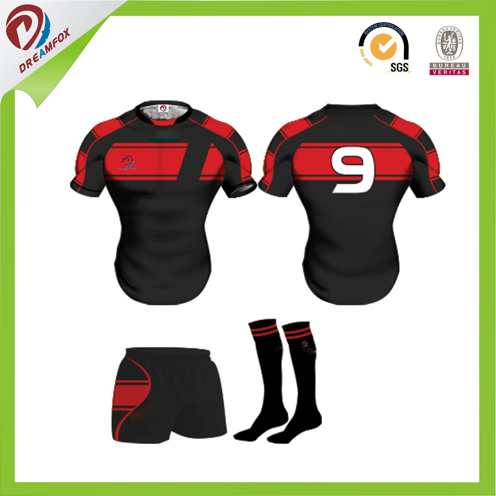Latest Custom Sublimation for Team Rugby Kits Designs