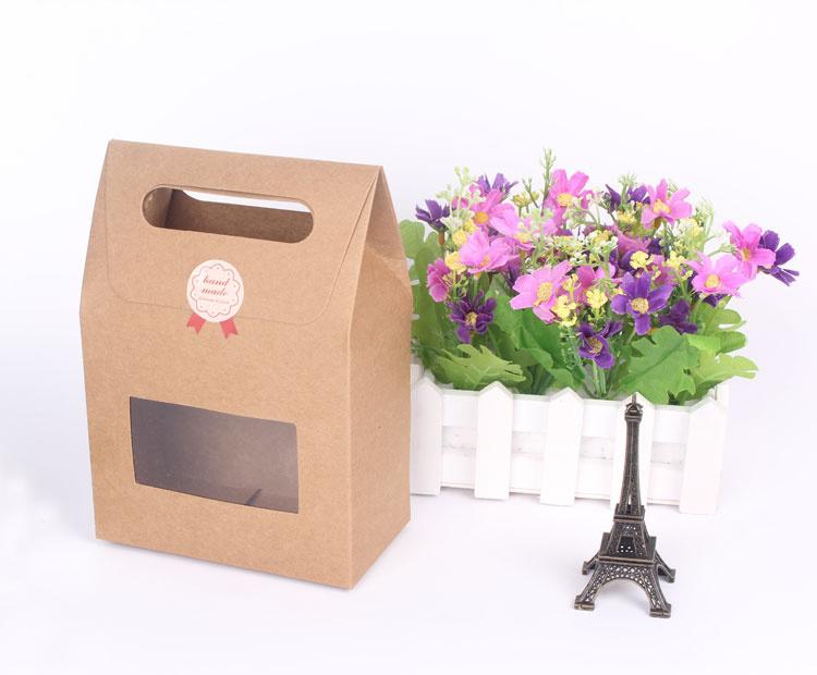 Hot Sale Fancy Kraft Gift Paper Box with Window