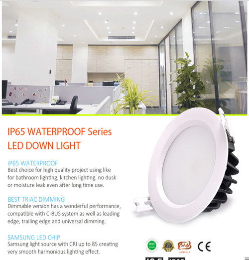 IP65 15W LED Downlight for Bath Room