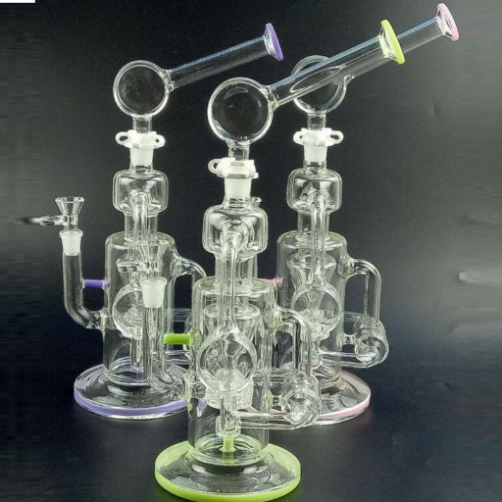 Colorful Glass Water Pipes Green Pink Purple Smoking Pipes