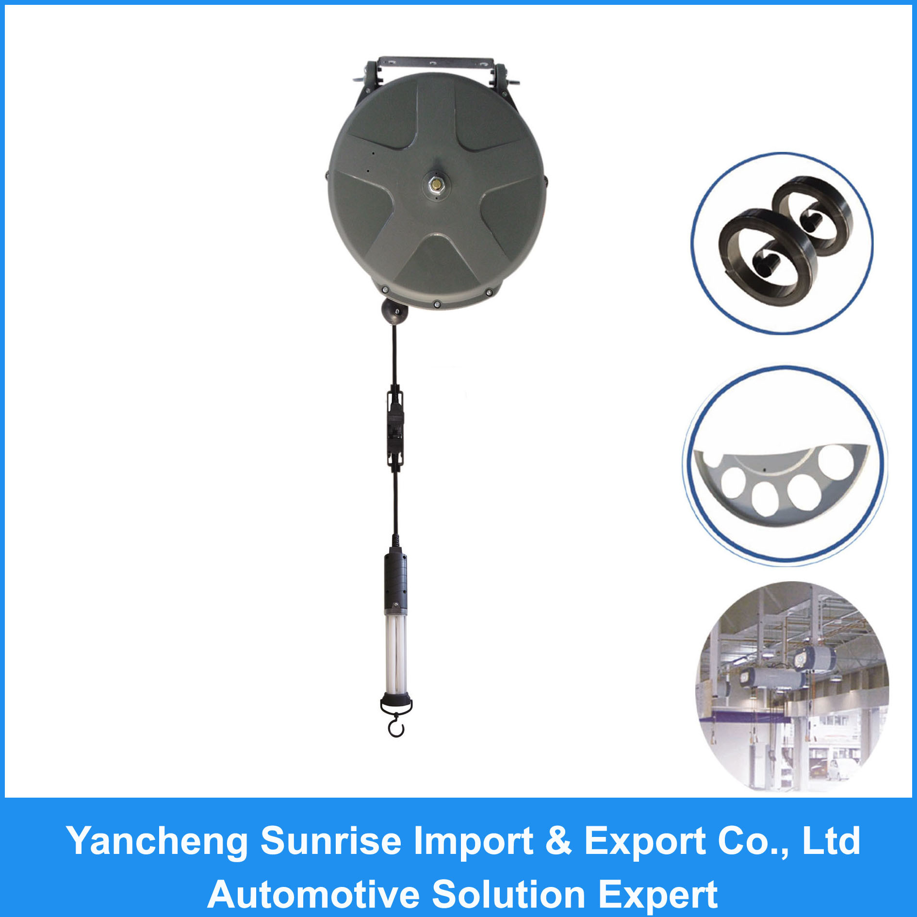 Cable Hose Reel / Cord Hose Reel with Lamp (TLR-18W)
