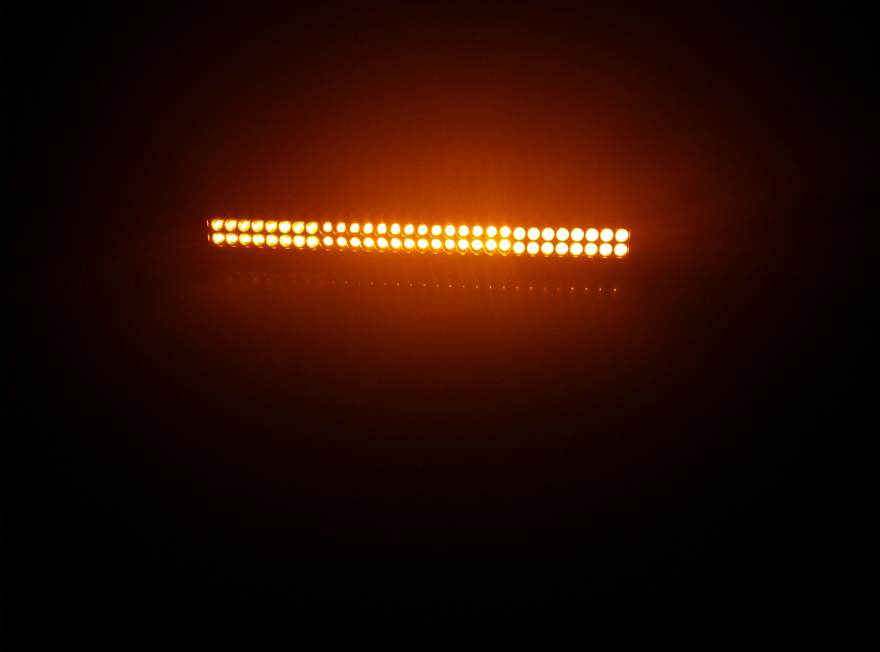 off Road Dual Color White and Amber LED Fog Light Bar