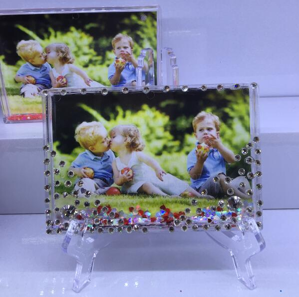 Bulit in Liquid Photo Frame Plastic Photo Frame Promotion Gift