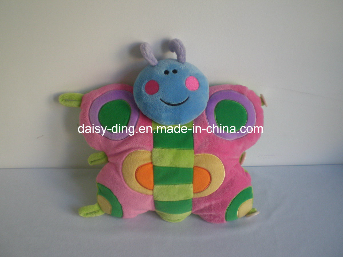 Plush Cute Butterfly Shape Cushion with Good Embroidery