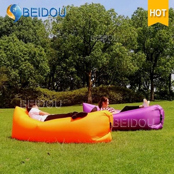 Outdoor Beach Air Sofa Chair Bed Sleep Bag Sun Inflatable Air Lounger