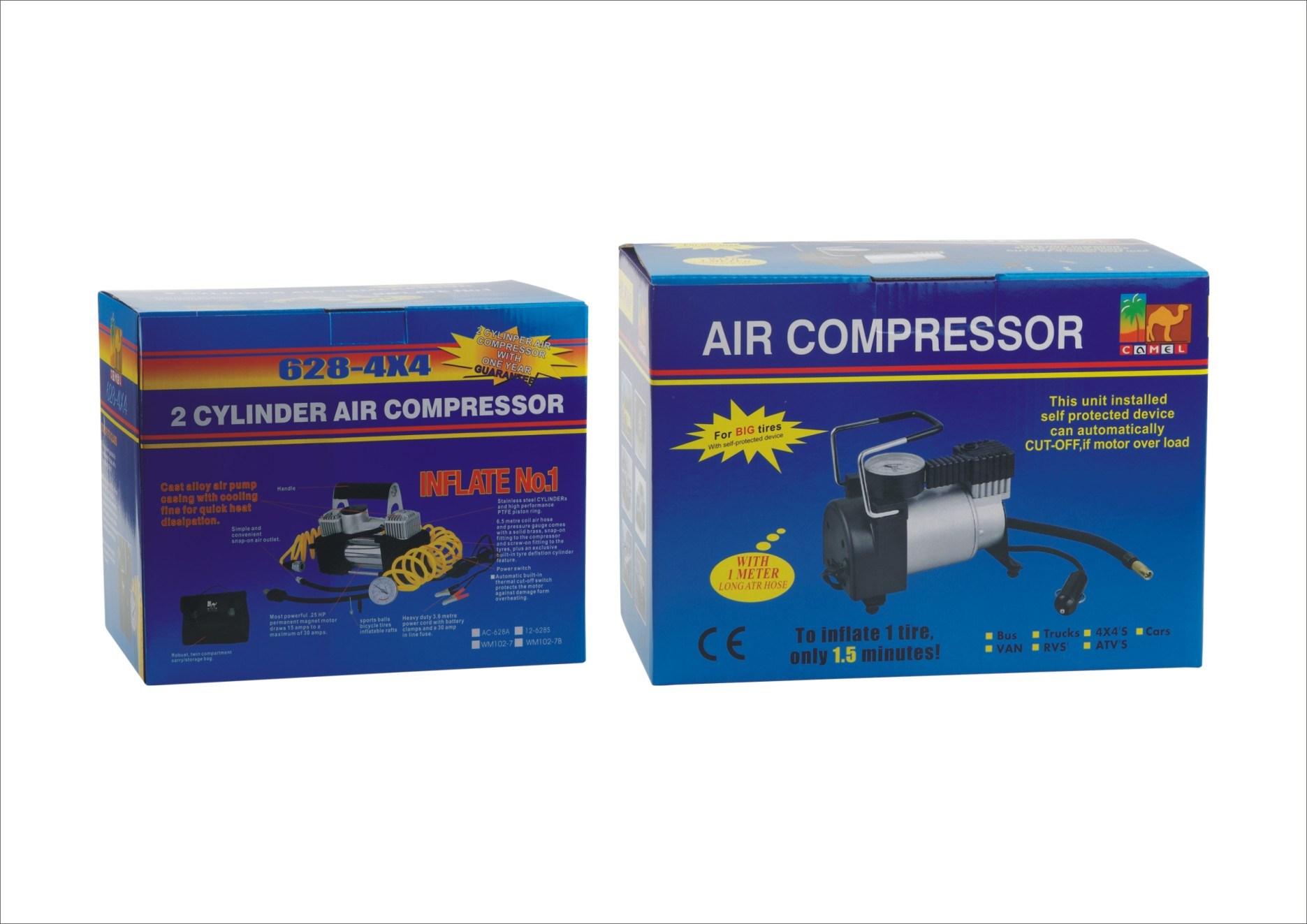 DC 12V/24V 100psi Mini Air Compressor for Car