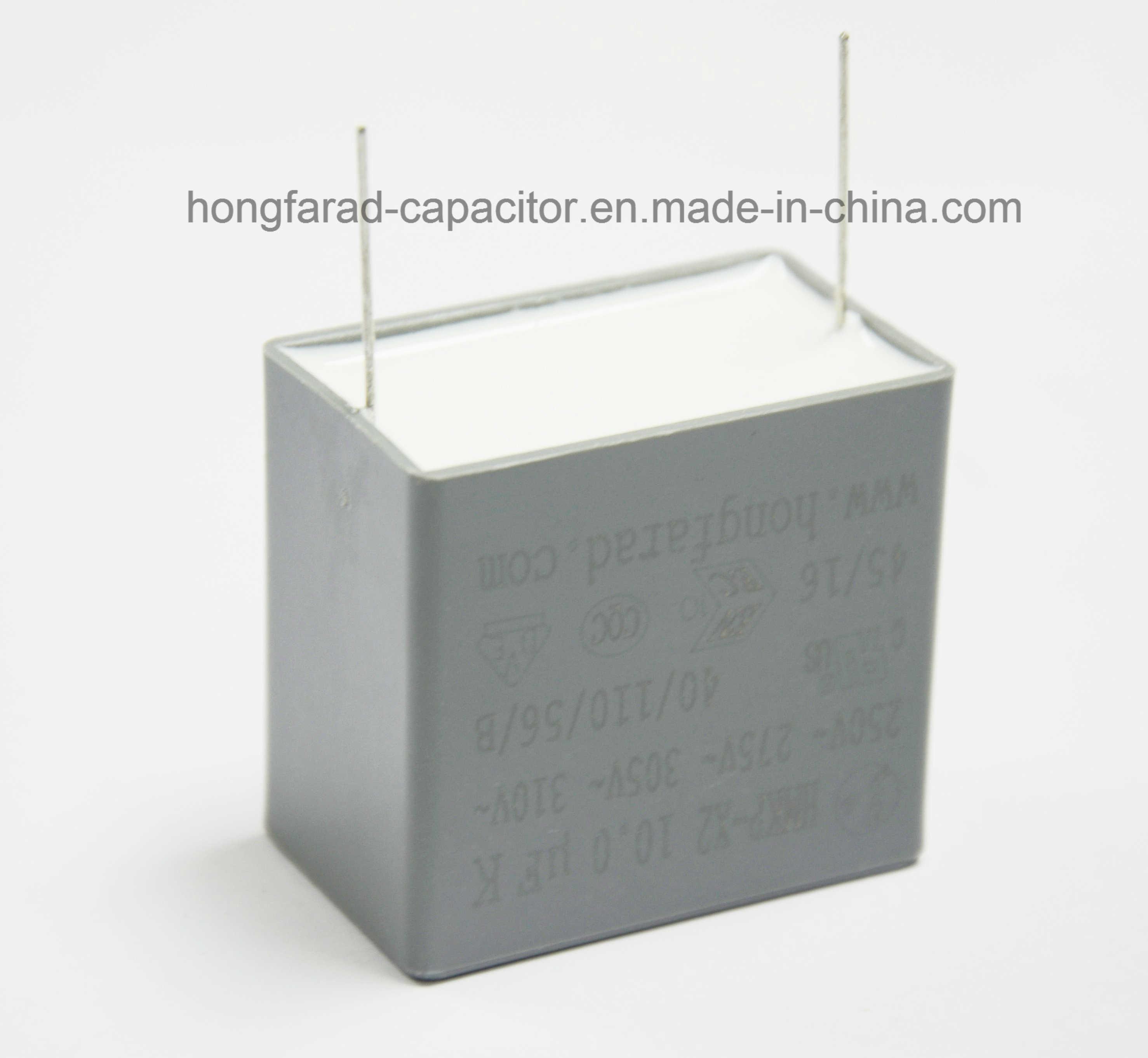 Cbb62 MKP X2 Film Capacitor for White Appliance.