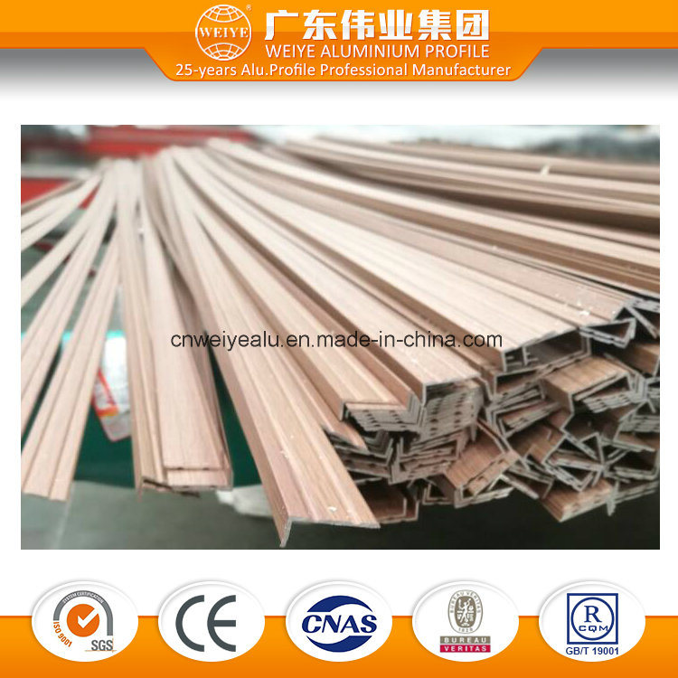 Wood Grain Surface Aluminium Extrusion for Window and Door