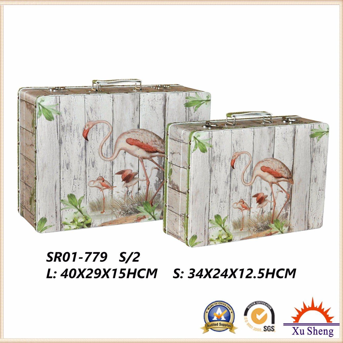 Wooden Antique Suitcase Storage Box Gift Box