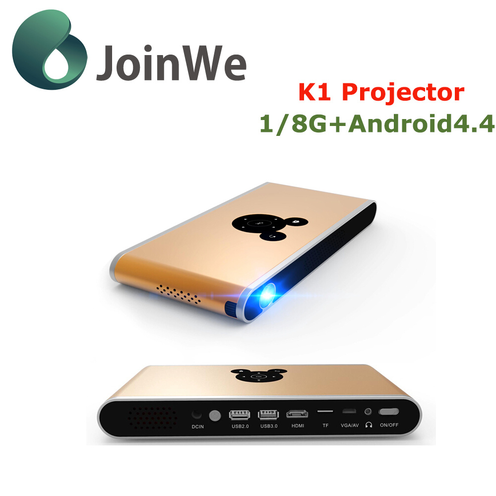 K1 Projector Android 4.4 1g 8g Mini LED Projector