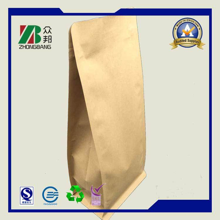 Stand up Ziplock Kraft Paper Bag for Coffee Tea Packaging