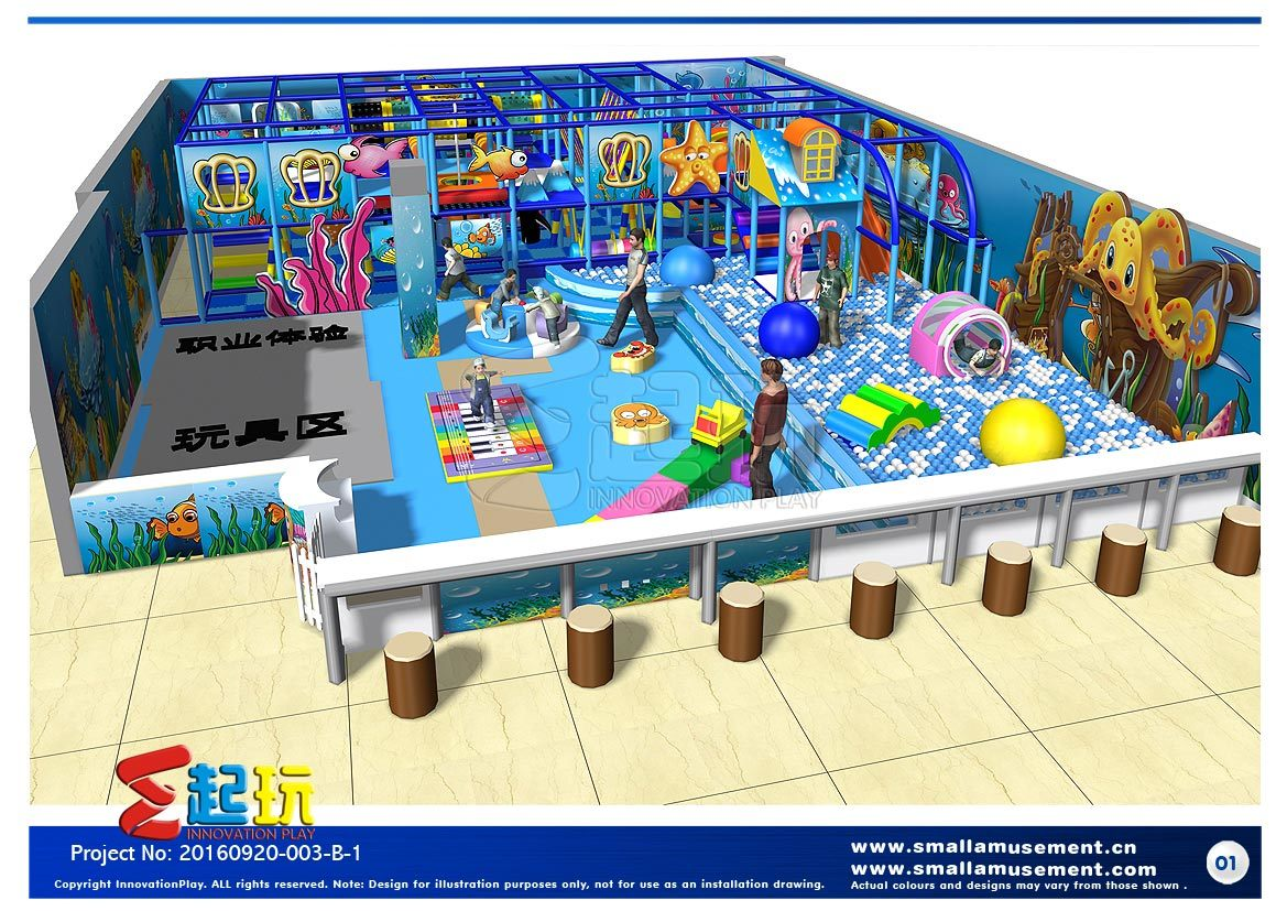Hot Sale Ocean Themed Indoor Playground Equipment