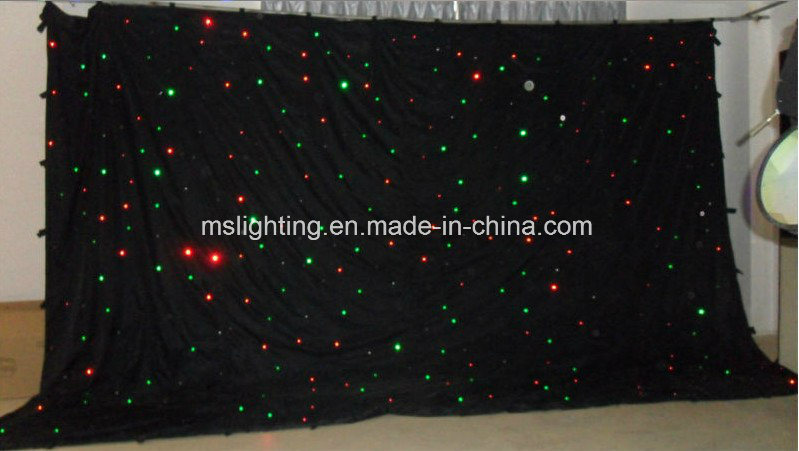 4m*6m Tricolor LED RGB Le Star Curtain/LED Star Cloth/Black Cloth