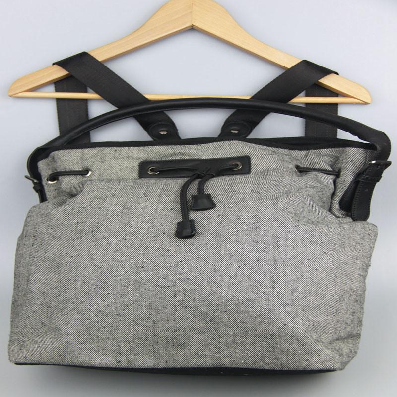 Multi function Canvas Handbag Ladies Canvas Backpack Fashion Accessory Supplier
