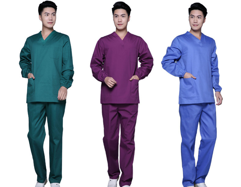 Poly/Cotton Medical Scrub Suit Short Sleeve