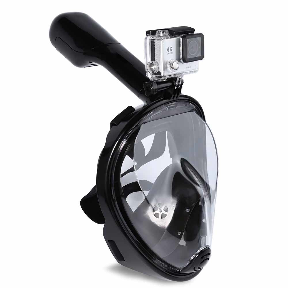 New Design Silicone Full Face Snorkel Mask Diving Mask with Copro Camera Mount
