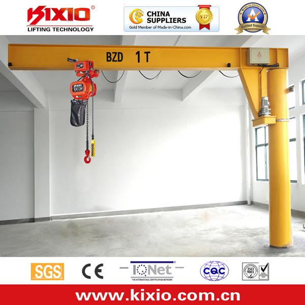 Kixio 1-10 Ton Jib Crane with Electric Chain Hoist