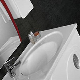 European Bathroom Vanity Furniture Sanitary Ware with Side Cabinet