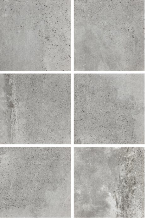 600X600mm Grey Color Cement Rustic Tile Anti-Slip Flooring Tile Lx6619W