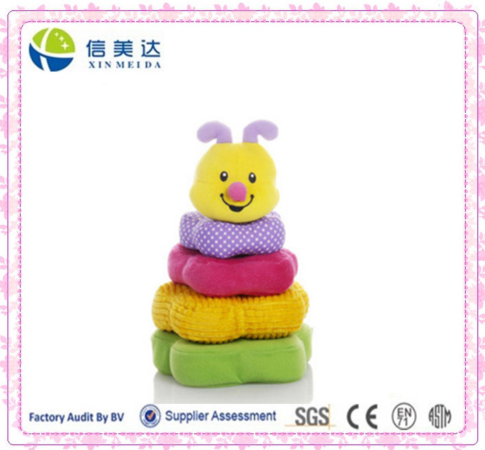 Interesting Plush Bee Building Blocks Toy