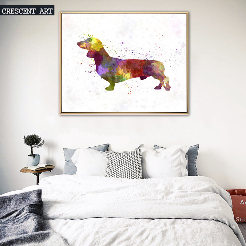 Wall Art Canvas Print of Cartoon Dogs