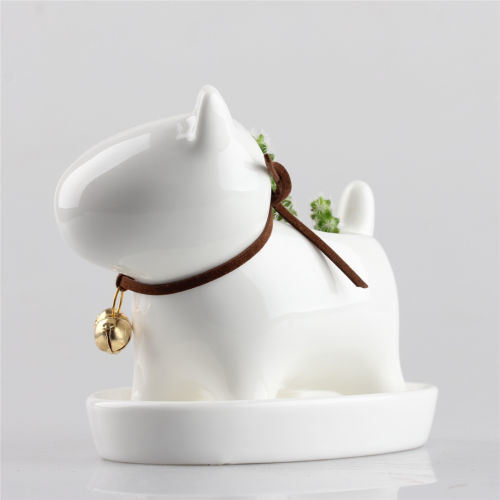 Little Dog Ceramic Succulent Plant Flower Pot Garden Porcelain Groceries Planter