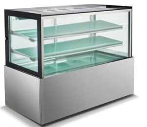 Stainless Steel Cake Showcase /Cake Display Showcase/Commercial Display Cake Refrigerator Showcase