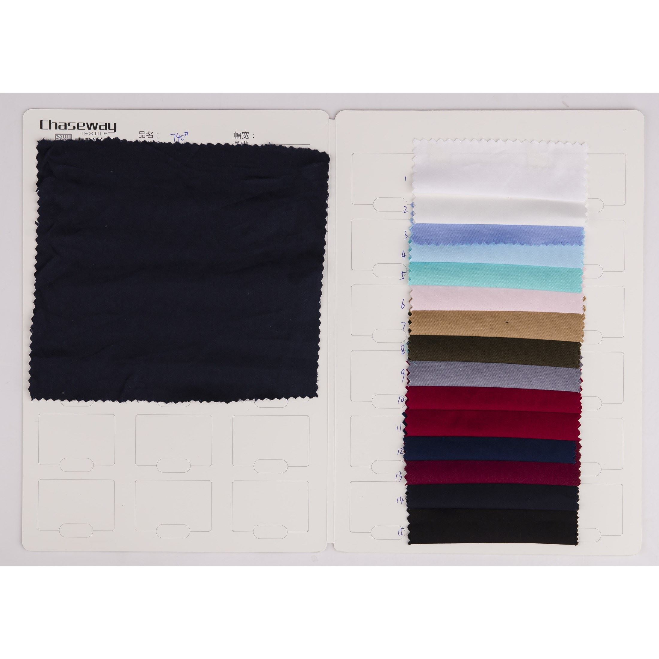 Woven Plain Dyed Spandex Cotton Twill Fabric for Shirt