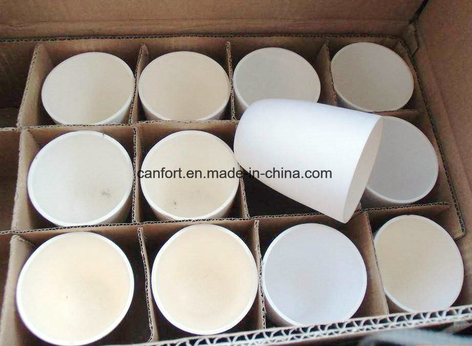 Porcelain Refractory Low Wall Crucible for Laboratory