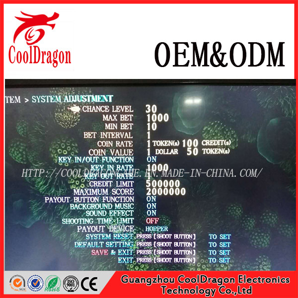 Casino Dragon Hunter Fishing Game Machine with Bill Acceptors