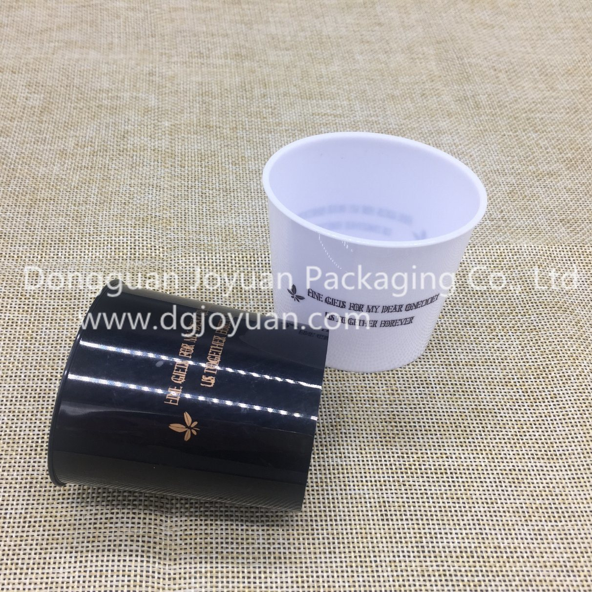 Plastic Disposable Cup Drinking Cup Golden Pattern Printed